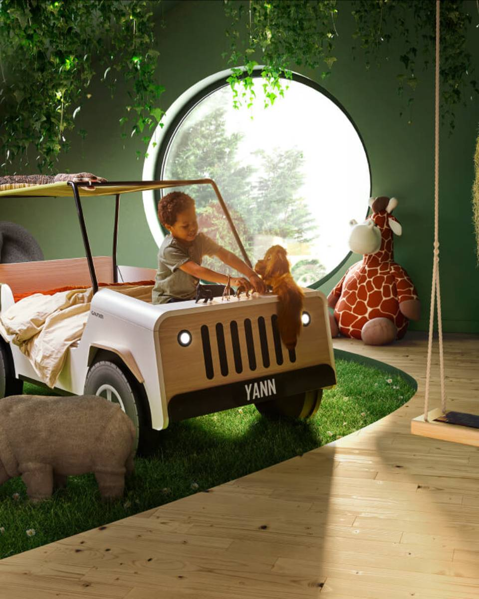JIIP bed, a reworked version of the Gautier car bed