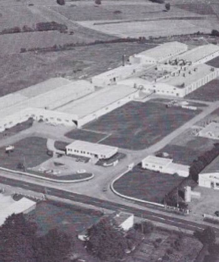 Aerial view of the Chantonnay site in 1975