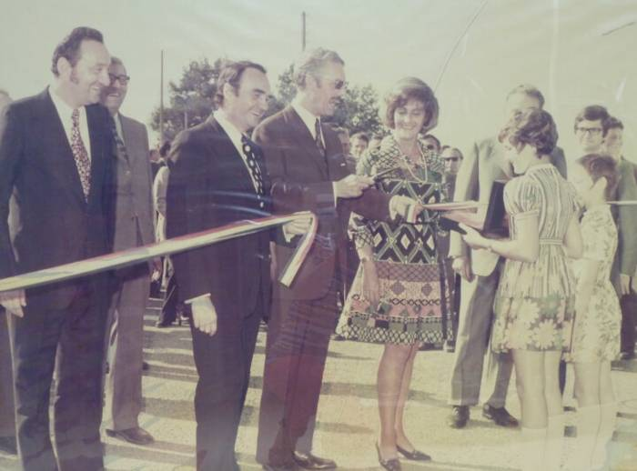 Patrice Gautier at the opening of the Chantonnay site in 1972